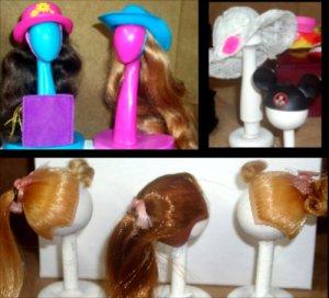 Vintage Barbie Accessories Wigs Purses Hats