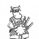 Samurai Cow Postcards - Set of 3