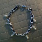 Pearl and Ribbon Chain Bracelet