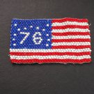 Vintage Glass Beaded Bicentenial 1976 Flag patch