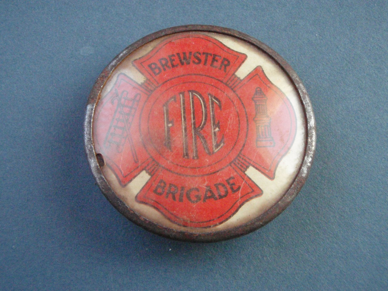 Vintage Whitehead & Hoag Brewster Fire Brigade Pin