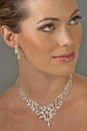 Pure Glam Rhinestone Necklace Set