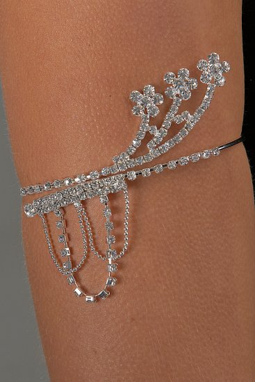 Floral Chain Rhinestone Arm Band