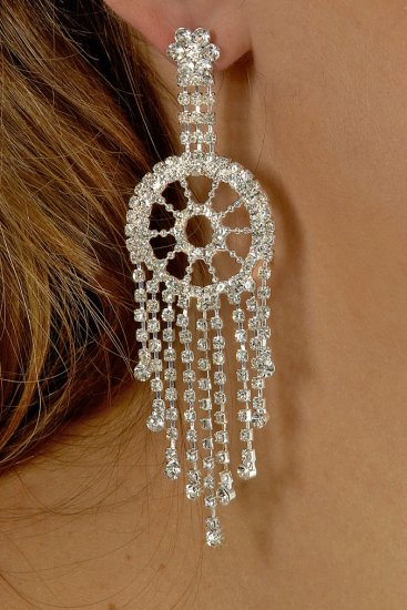 Pinwheel Rhinestone Earrings