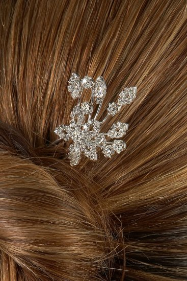 Flower Burst Rhinestone Hair Pin
