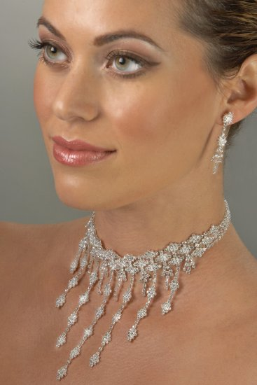 Imperial Rhinestone Necklace Set