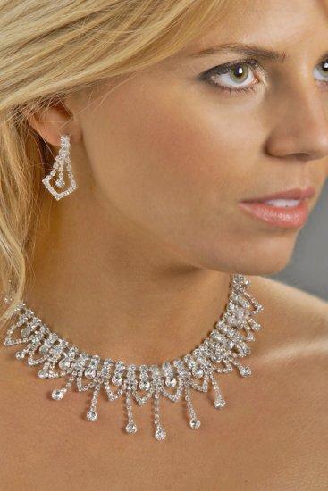 Glamorous Rhinestone Necklace Set