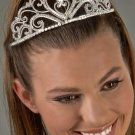 Regal Heart Rhinestone Tiara