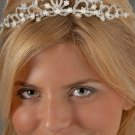 Bouquet of Flowers Pearl and Rhinestone Tiara