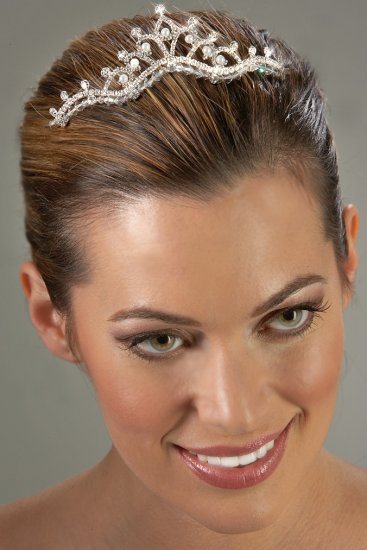 Regal Pearl and Rhinestone Tiara