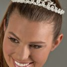 Flowers with Pearls Rhinestone Tiara