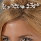 Pearl and Rhinestone Flowered Tiara Comb