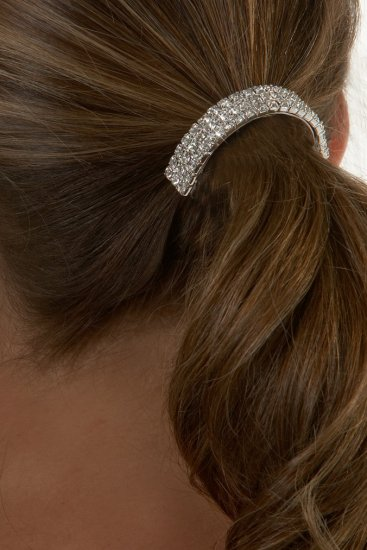3-Row Rhinestone Ponytail Holder