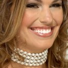 Chanel Style Pearl and Rhinestone Choker Necklace