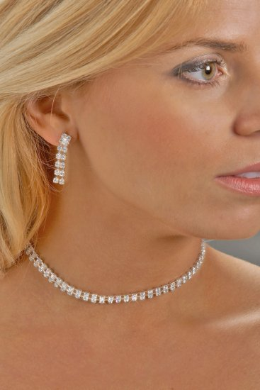 Swarovski Crystal 2-Row Necklace Set