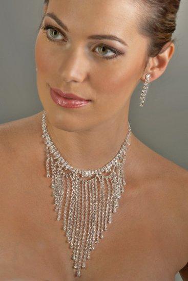 Glitter Rhinestone Necklace Set