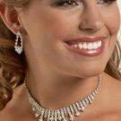 Diamond Pattern Rhinestone Necklace Set