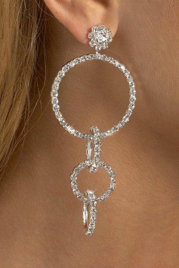 Triple Hoop Rhinestone Earrings