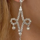 2-Loop Rhinestone Earrings