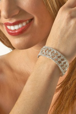Zig-Zag Rhinestone Bracelet