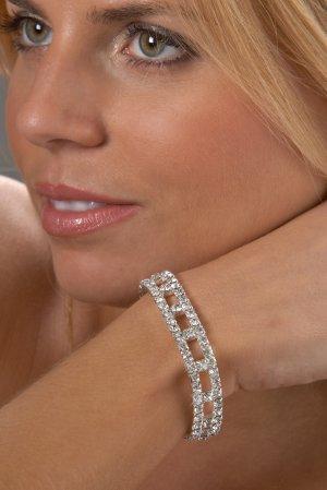 Contemporary Rhinestone Bracelet