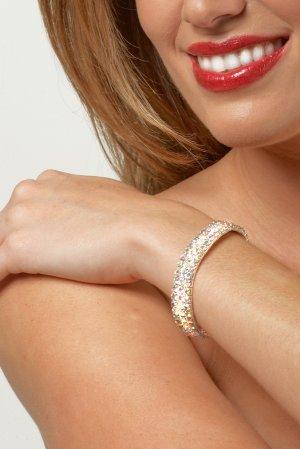 3-Row AB Rhinestone Bracelet