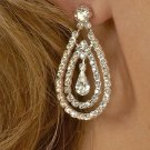 Double Drop Rhinestone Earrings