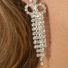 5-Row Rhinestone Earrings