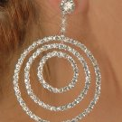 3-Circle Rhinestone Earrings