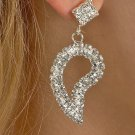 Tear Drop Rhinestone Earrings