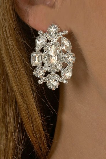Marquis Rhinestone Earrings