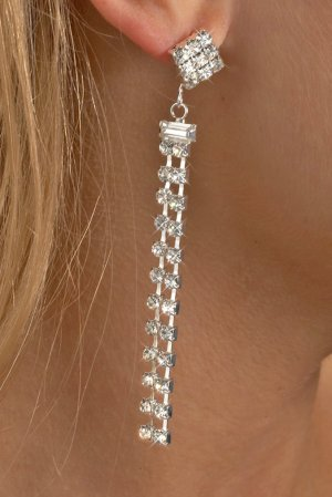2-Row Straight Earrings