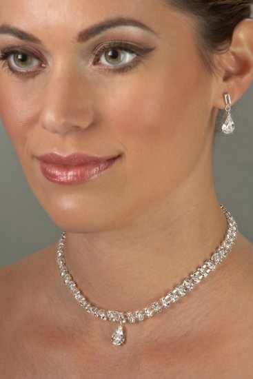 Cartier-Style Rhinestone Necklace Set