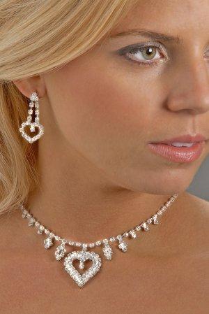 Sweetheart Rhinestone Necklace Set