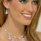Fancy AB Rhinestone Necklace Set