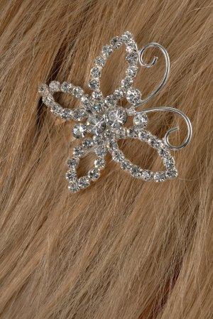 Beautiful Butterfly Rhinestone Hair Pin