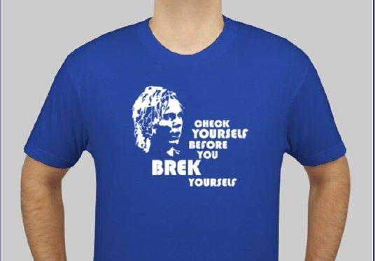 Brek Yourself T-Shirt - Blue - Small - Shea