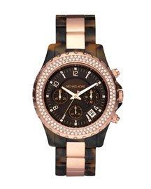 Round Tortoise Glitz Watch