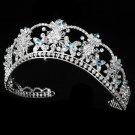 Aqua Rhinestone Quinceanera, Mis Quince Anos or Prom Tiara with Swarovski Crystals