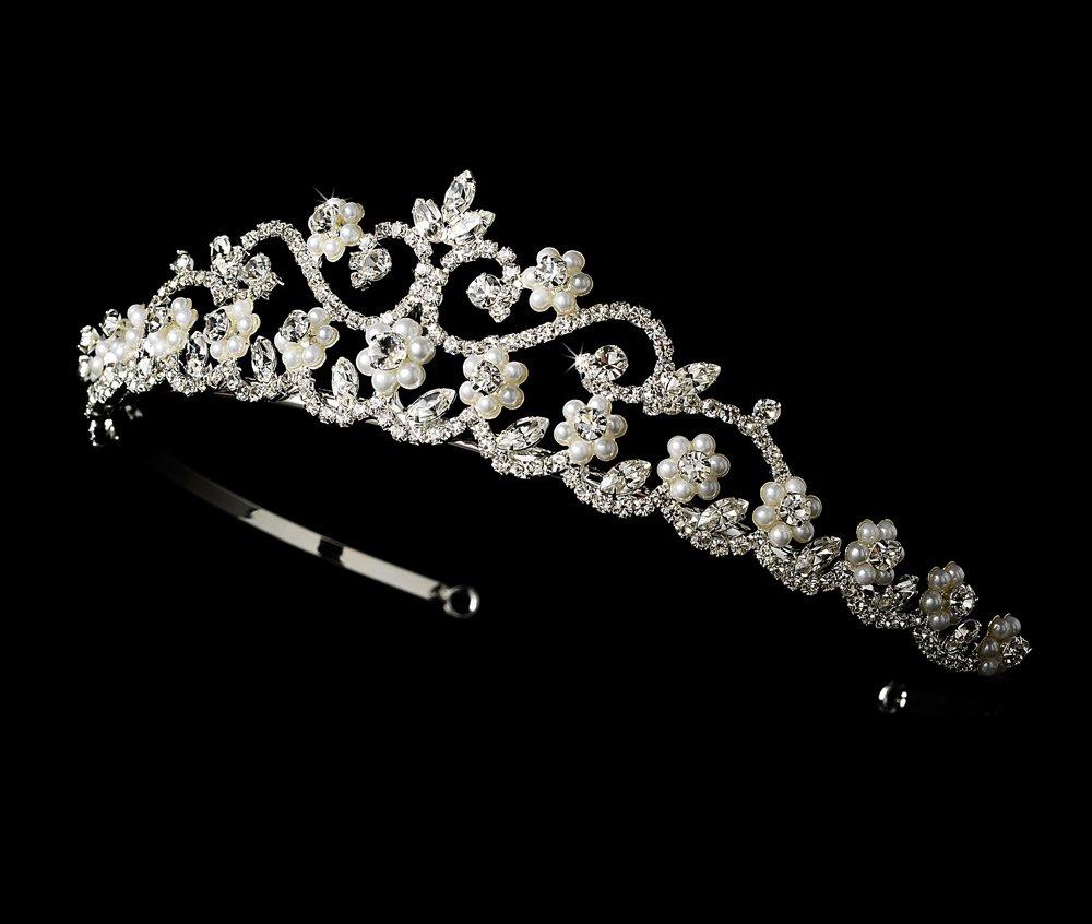 Ivory Pearl and Rhinestone Wedding, Bride Tiara