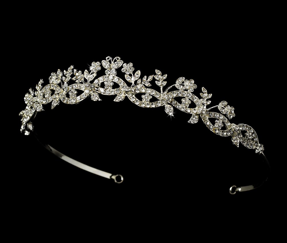 Dazzling Butterfly Tiara for Quinceanera, Sweet 16,  Mis Quince Anos