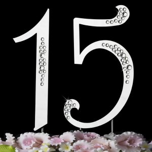 Trend Setter Crystal Sweet 15 Mis Quince Anos Quinceanera Cake Topper