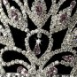 Striking Silver Plated Tiara in Light Blue or Lilac for Quinceanera, Mis Quince Anos, Sweet 16