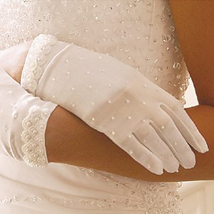 Quinceanera, Mis Quince Anos, Sweet 16 Wrist Length Glove with Pearls