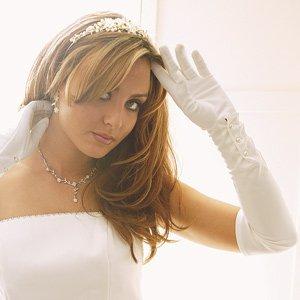 Elegant Matte Formal Glove for Wedding, Bridal