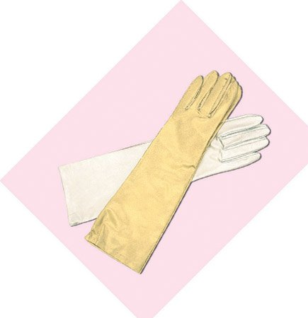 Metallic Opera Length Gloves for Wedding, Bridal