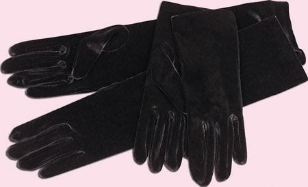 Above Elbow Velvet Gloves In Your Choice of Color for Quinceanera, Mis Quinceanera