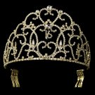 Regal Gold Sweet 16 Sixteen Birthday Rhinestone Tiara Crown
