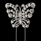 Beautiful Crystal Butterfly Theme Wedding Cake Jewelry Topper