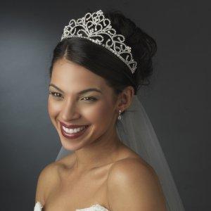 Royal Rhinestone Wedding Tiara for the Bride in Silver